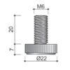 stopica-vijak-m6-fi22-krug-tehnicki-podaci