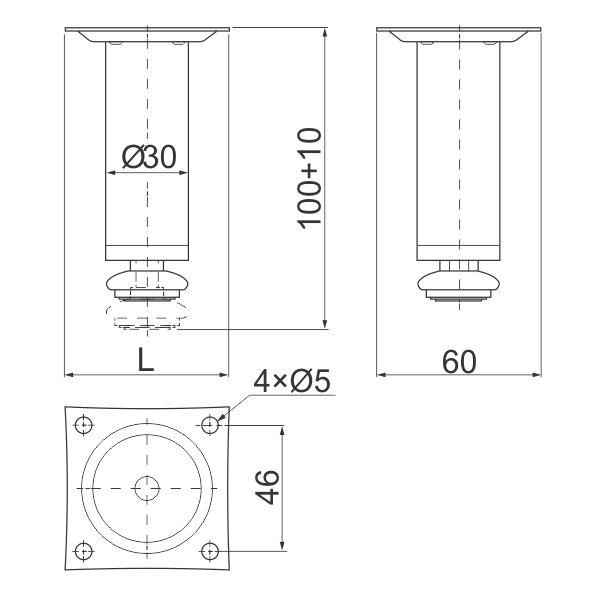 nogica-H100-fi30-hrom-tehnicki-podaci