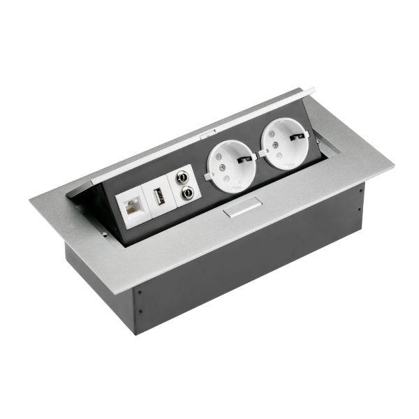 0002783-Uticnica_za_konferencijski_sto,2x_shuko,USB,LAN
