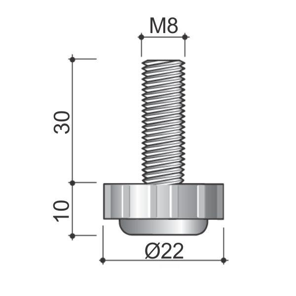stopica-vijak-m8-fi22-zvezdasta-tehnicki-podaci