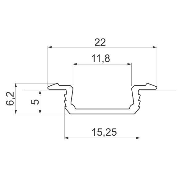 ALU-profil-za-LED-GLAX-Srebrni-3m-ugradni_tehnicki-podaci