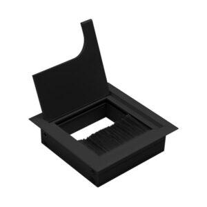 ukopavajuća rozetna 80x80 crna